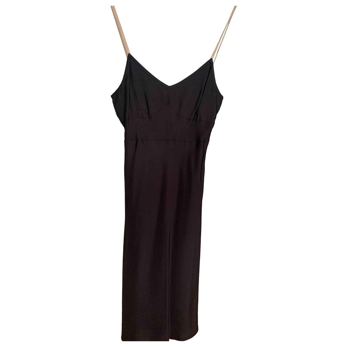 Helmut Lang \N Kleid in  Schwarz Viskose