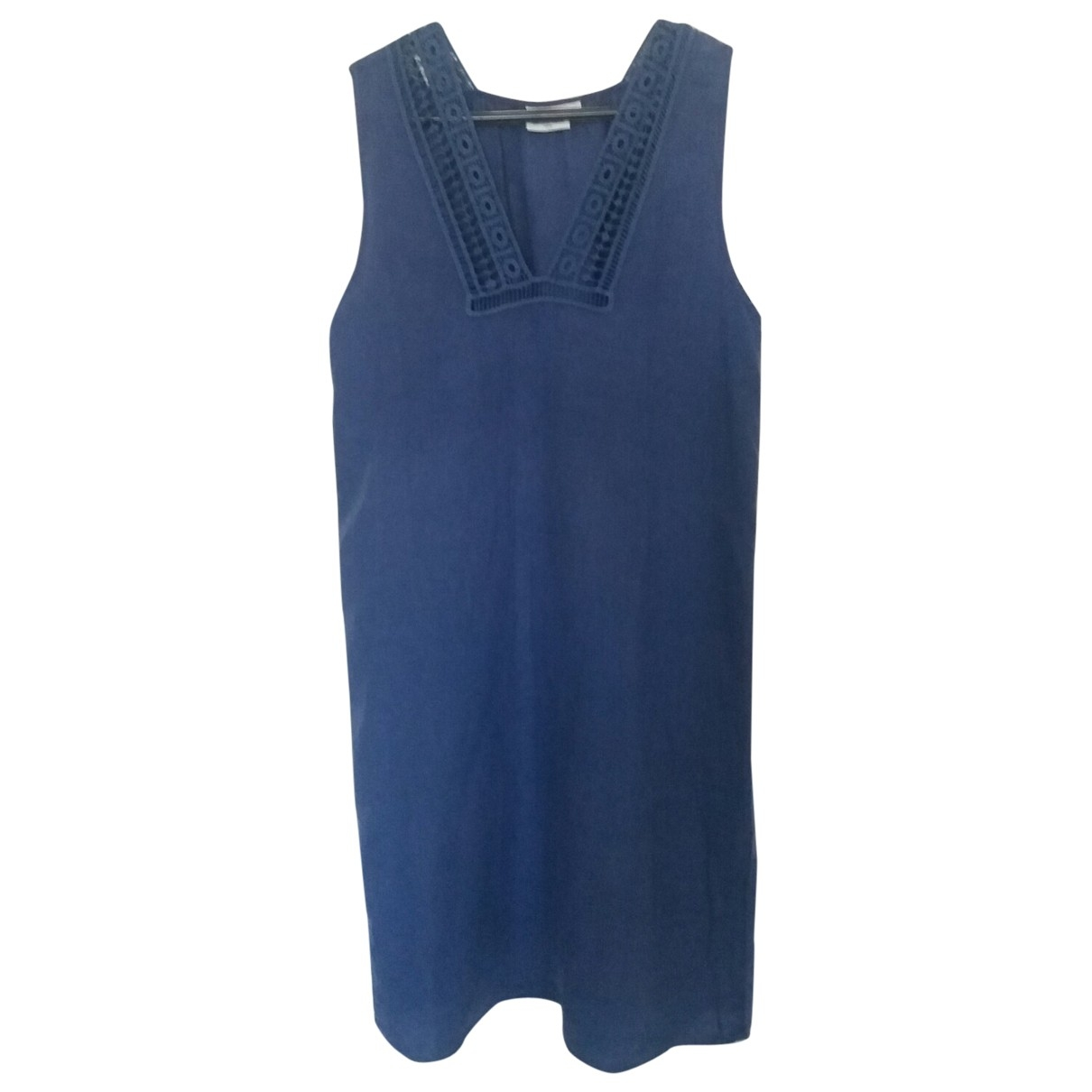 Hartford \N Kleid in  Blau Leinen