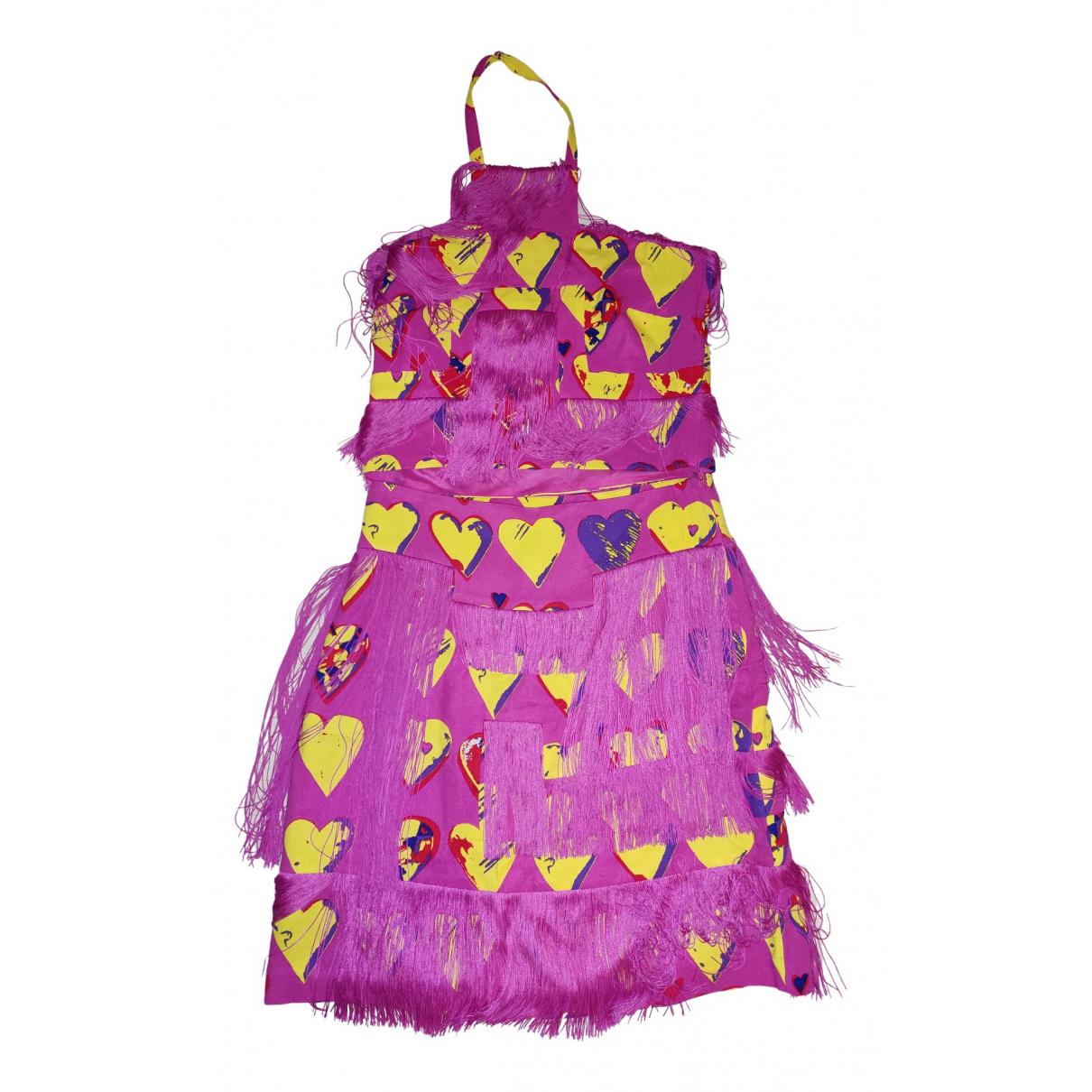 Versace X H&m \N Kleid in  Rosa Seide