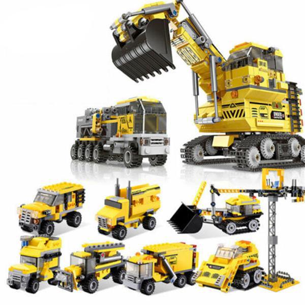 XINGBAO 13002 8 in 1 Building Block Excavator Puzzle Toys
