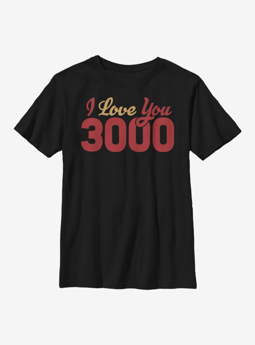Marvel Iron Man Love You 3000 Youth T-Shirt