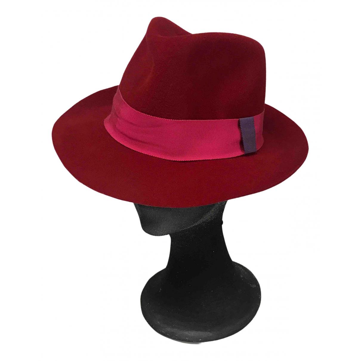 La Cerise Sur Le Chapeau N Red Suede hat for Women 58 cm