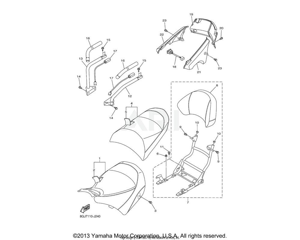 Yamaha OEM 8ET-82917-00-00 SWITCH | AP