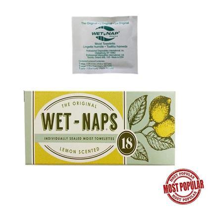 Wet-naps Moist Towelette Lemon Scent 18Pcs/pack