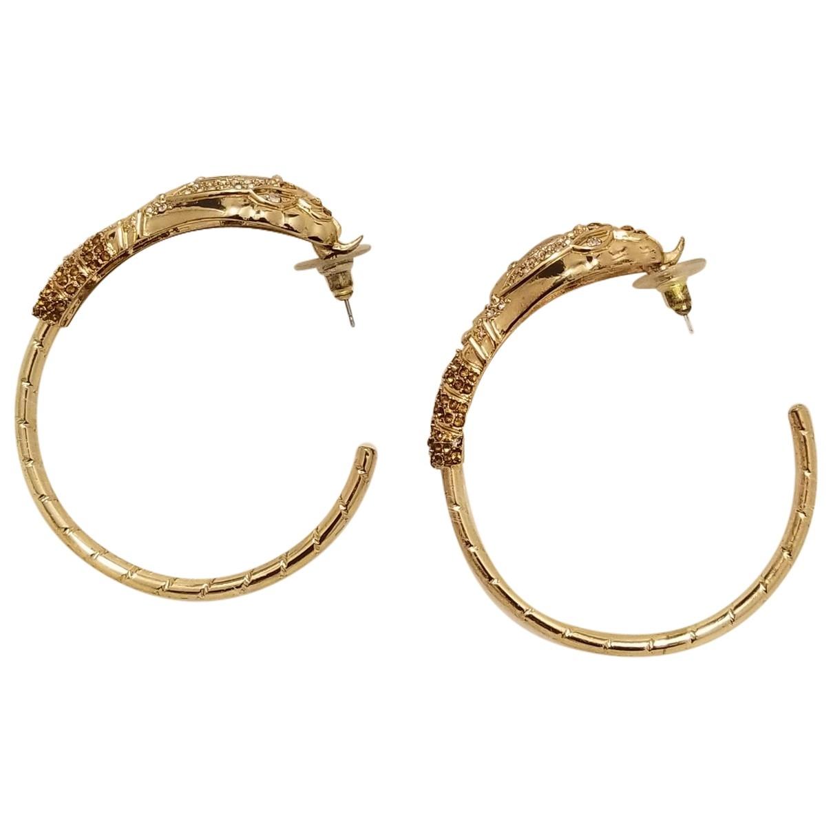 Anna Dello Russo Pour H&m - Boucles doreilles   pour femme en metal - dore