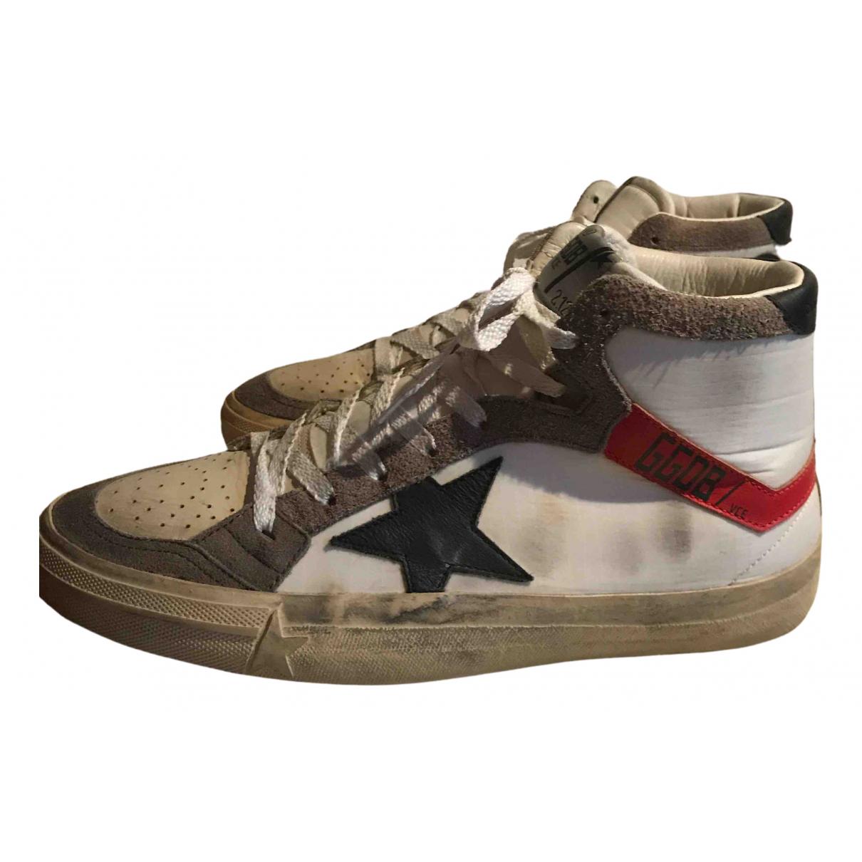 Golden Goose 2.12 Sneakers in  Weiss Leder