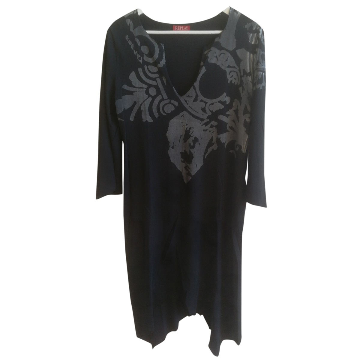 Replay \N Kleid in  Schwarz Baumwolle
