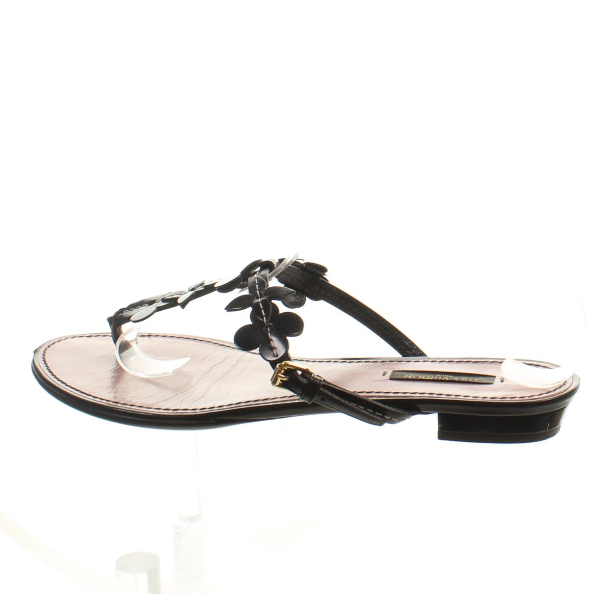 Louis Vuitton \N Sandalen in  Schwarz Leder