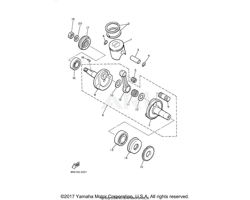Yamaha OEM 93306-30623-00 BEARING