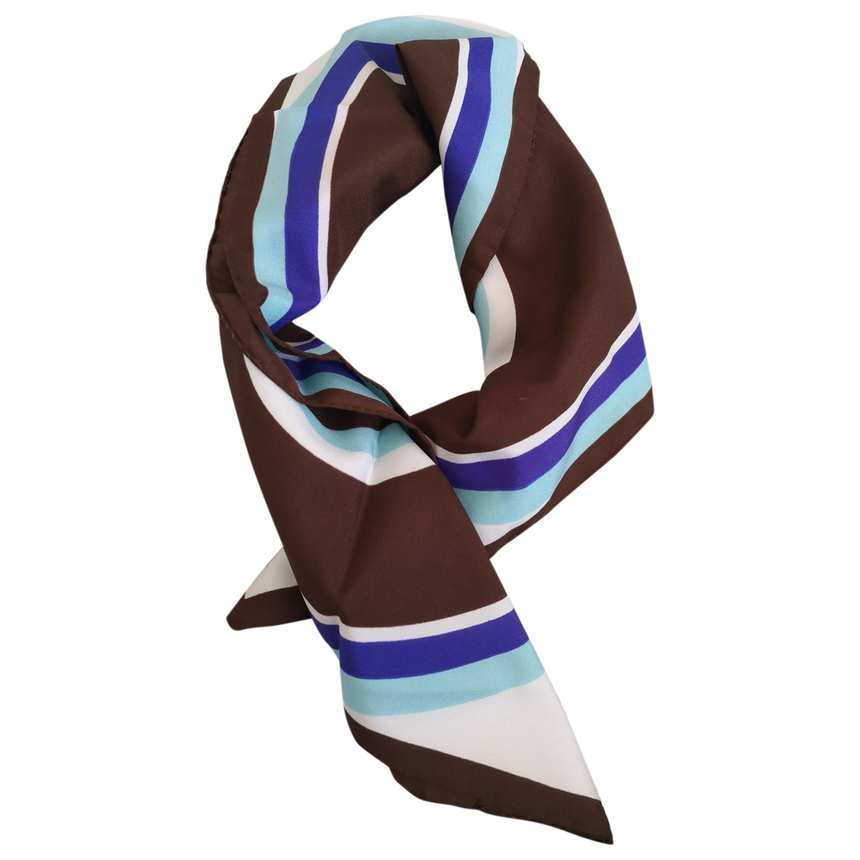 Non Signé / Unsigned \N Brown scarf for Women \N