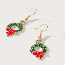 Christmas Wreath Drop Earrings