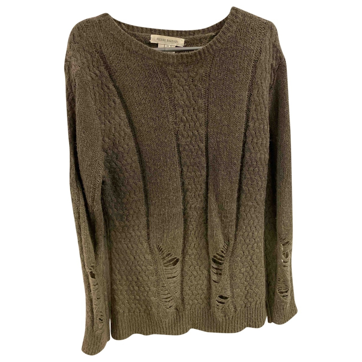 Pierre Balmain \N Khaki Wool Knitwear & Sweatshirts for Men 48 IT