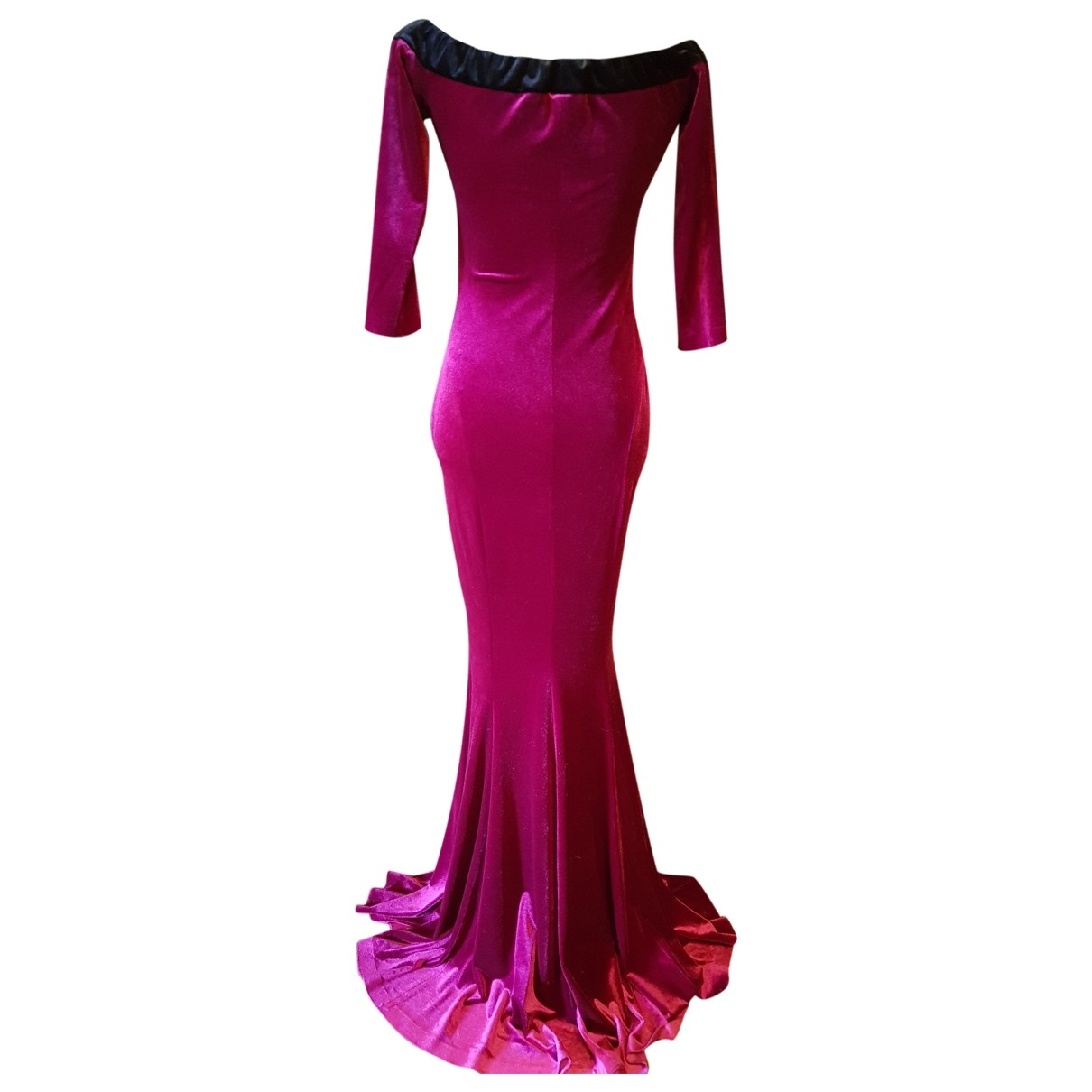 Norma Kamali \N Kleid in  Bordeauxrot Polyester