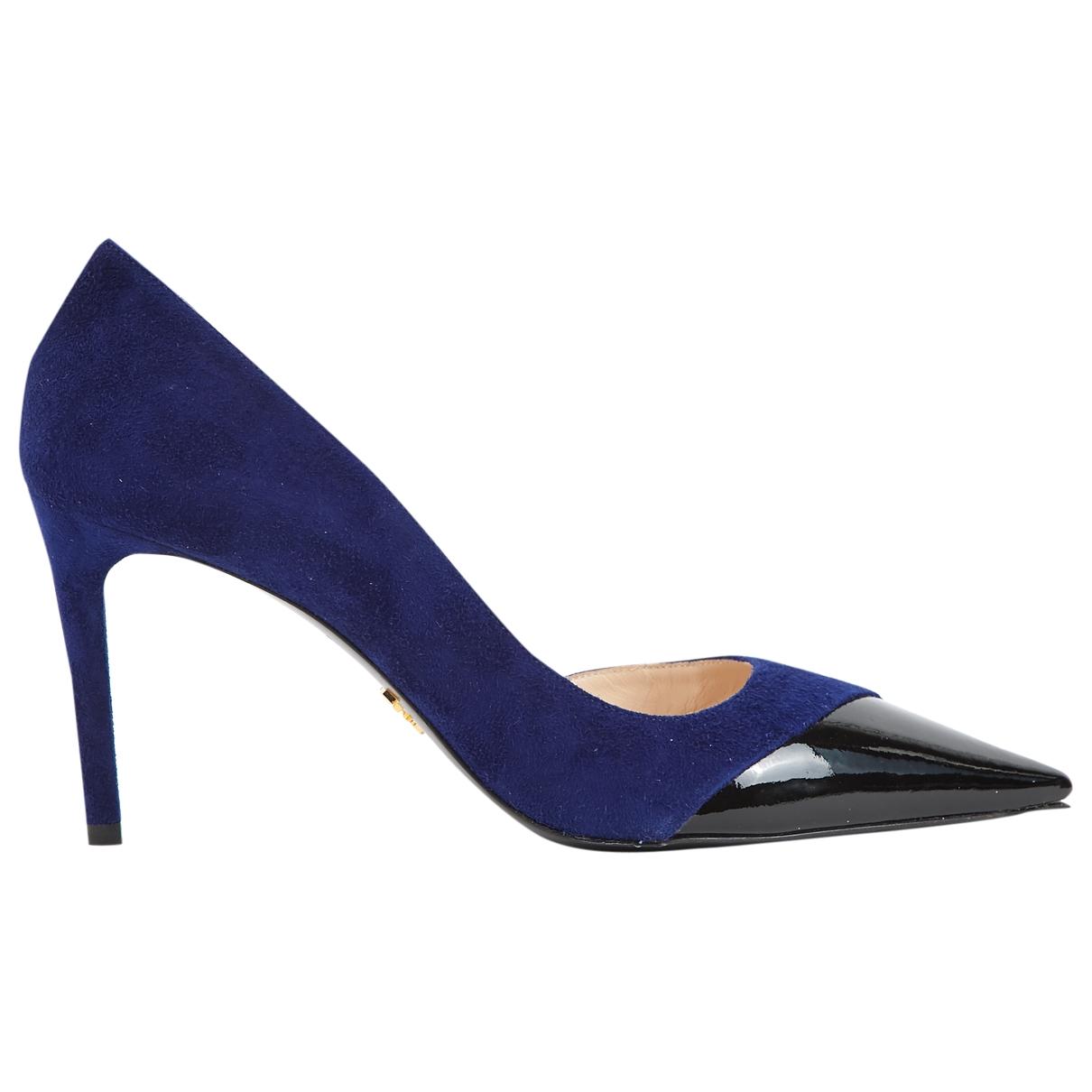 Prada - Escarpins   pour femme en suede - bleu