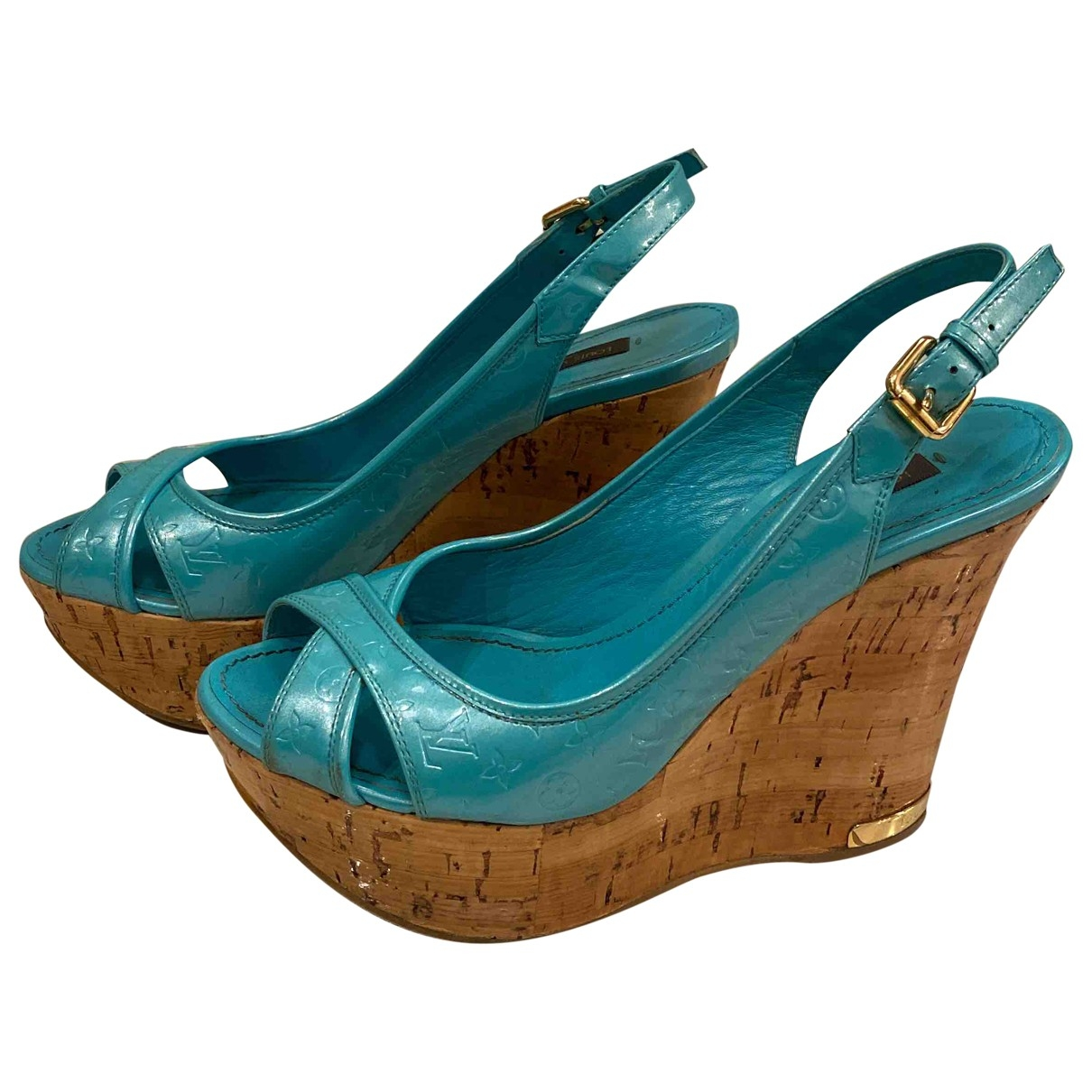 Louis Vuitton \N Turquoise Leather Sandals for Women 36 EU