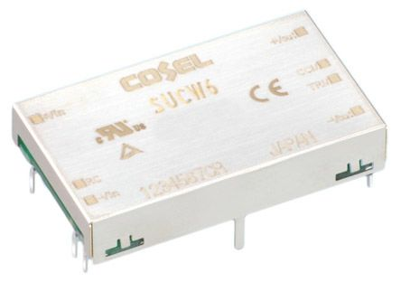 Cosel 6W Isolated DC-DC Converter Through Hole, Voltage in 9 → 18 V dc, Voltage out ±12V dc