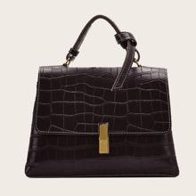 Bolso cartera con diseño de cocodrilo