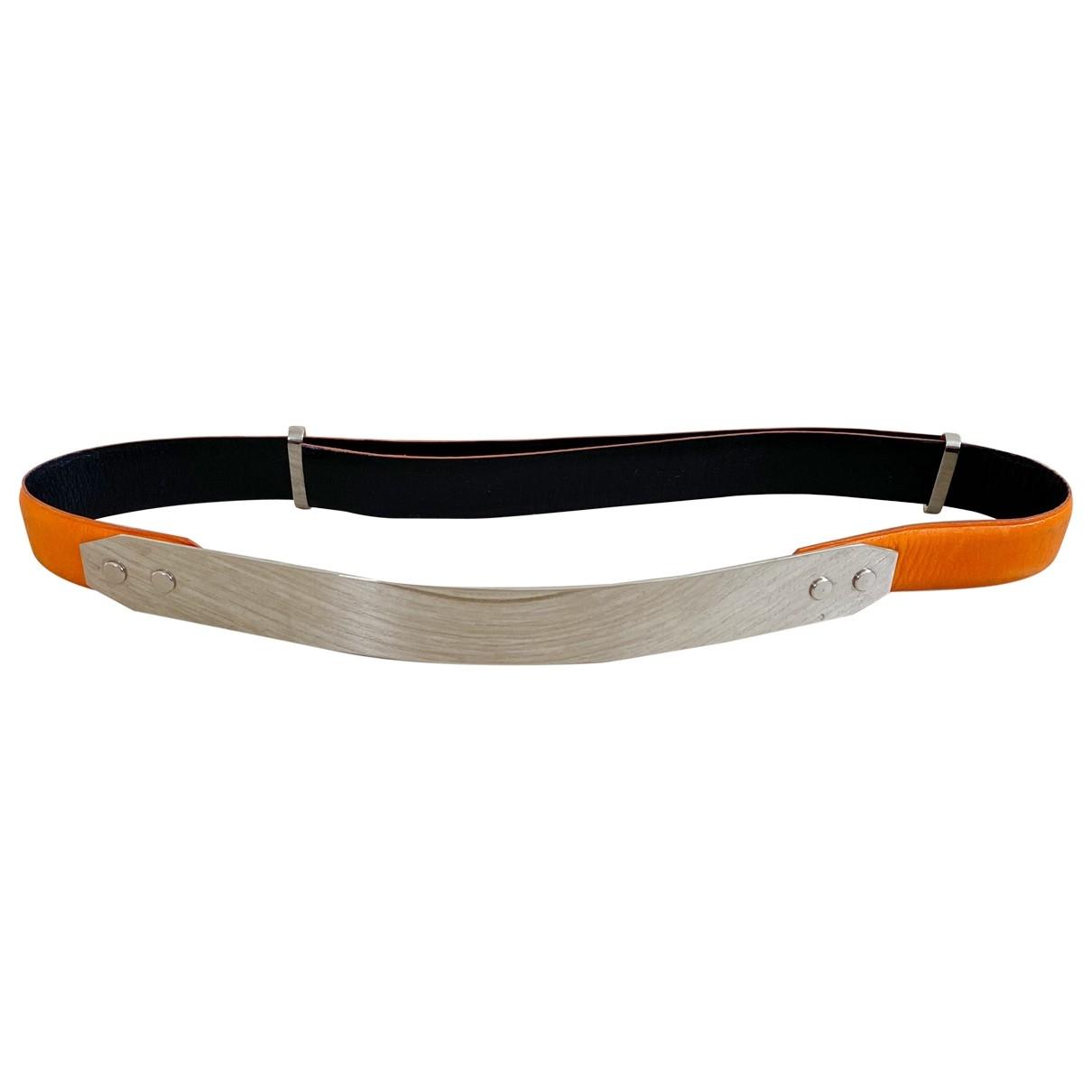 Toga Archives \N Orange Leather belt for Women M International