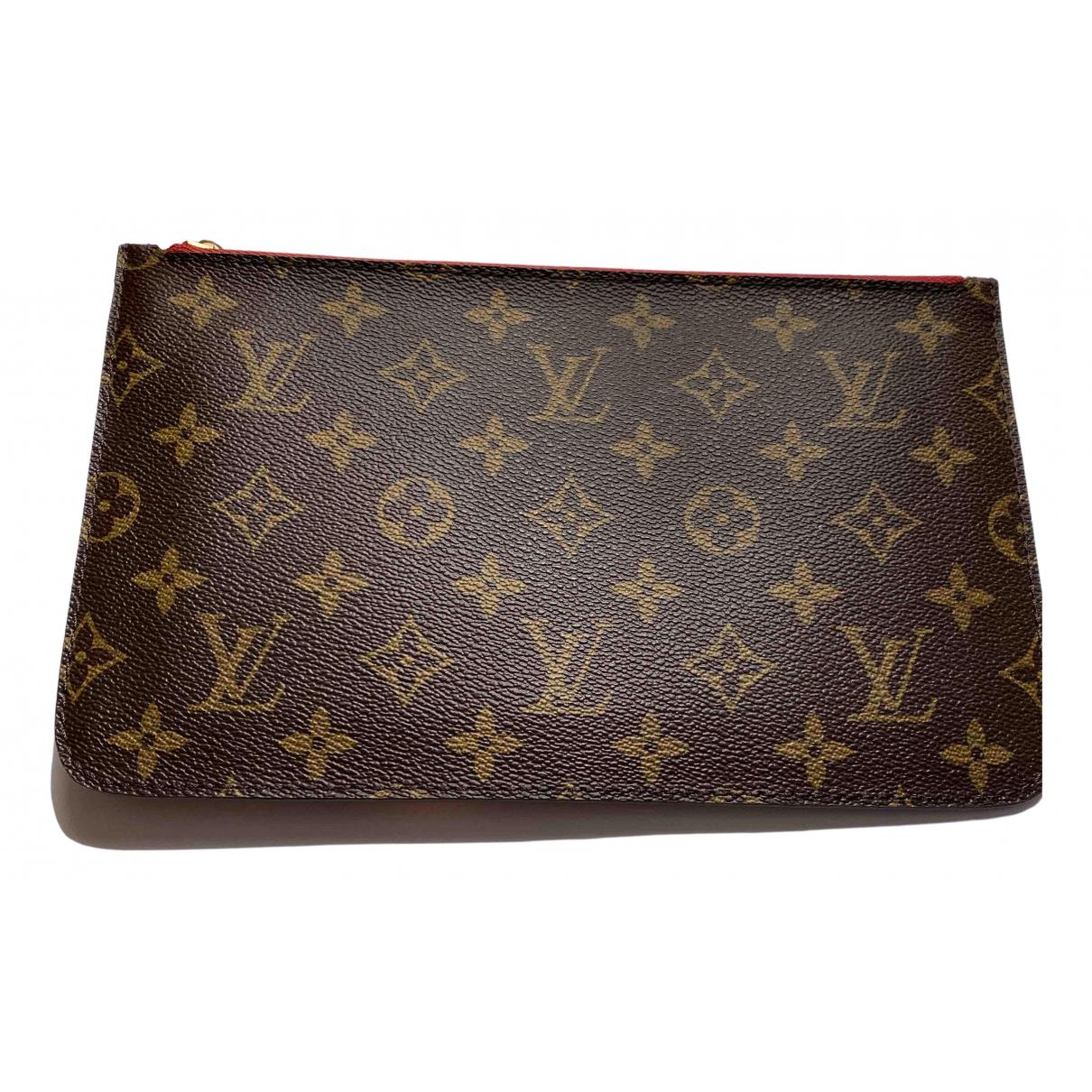 Louis Vuitton Neverfull Beige Cloth Clutch bag for Women \N