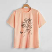 Abstract Figure Graphic Tee