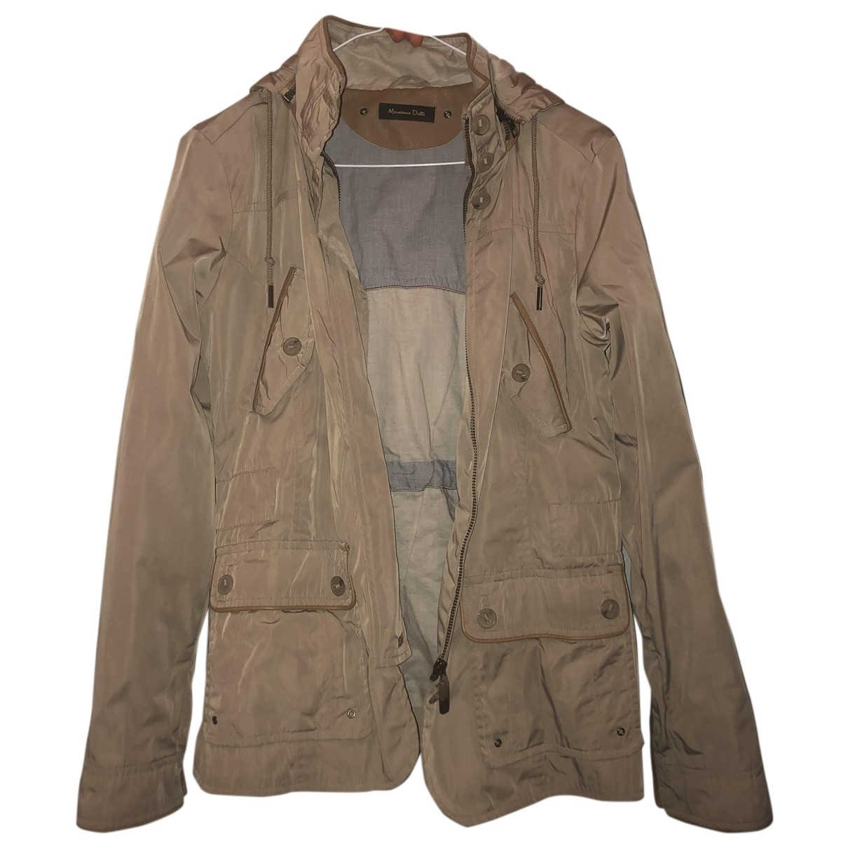 Massimo Dutti \N Beige Cotton jacket for Women S International