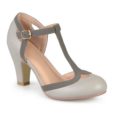 Journee Collection Womens Olina Pumps, 6 1/2 Medium, Gray