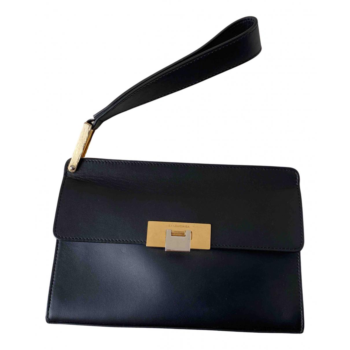 Balenciaga - Pochette Le Dix pour femme en cuir - noir