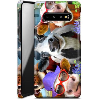 Samsung Galaxy S10 Plus Smartphone Huelle - Udderly Cool Selfie von Howard Robinson