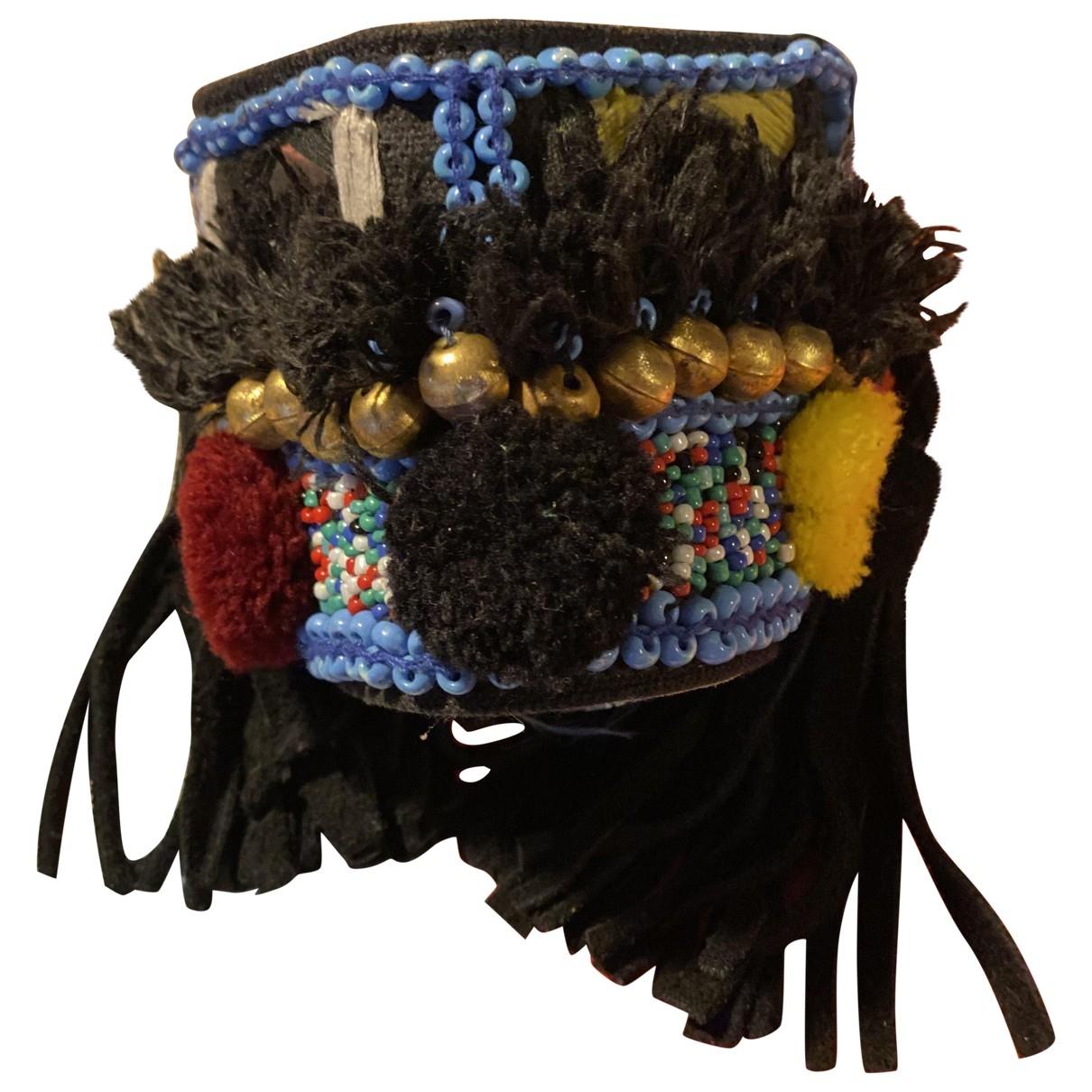 Antik Batik \N Armband in  Schwarz Leder