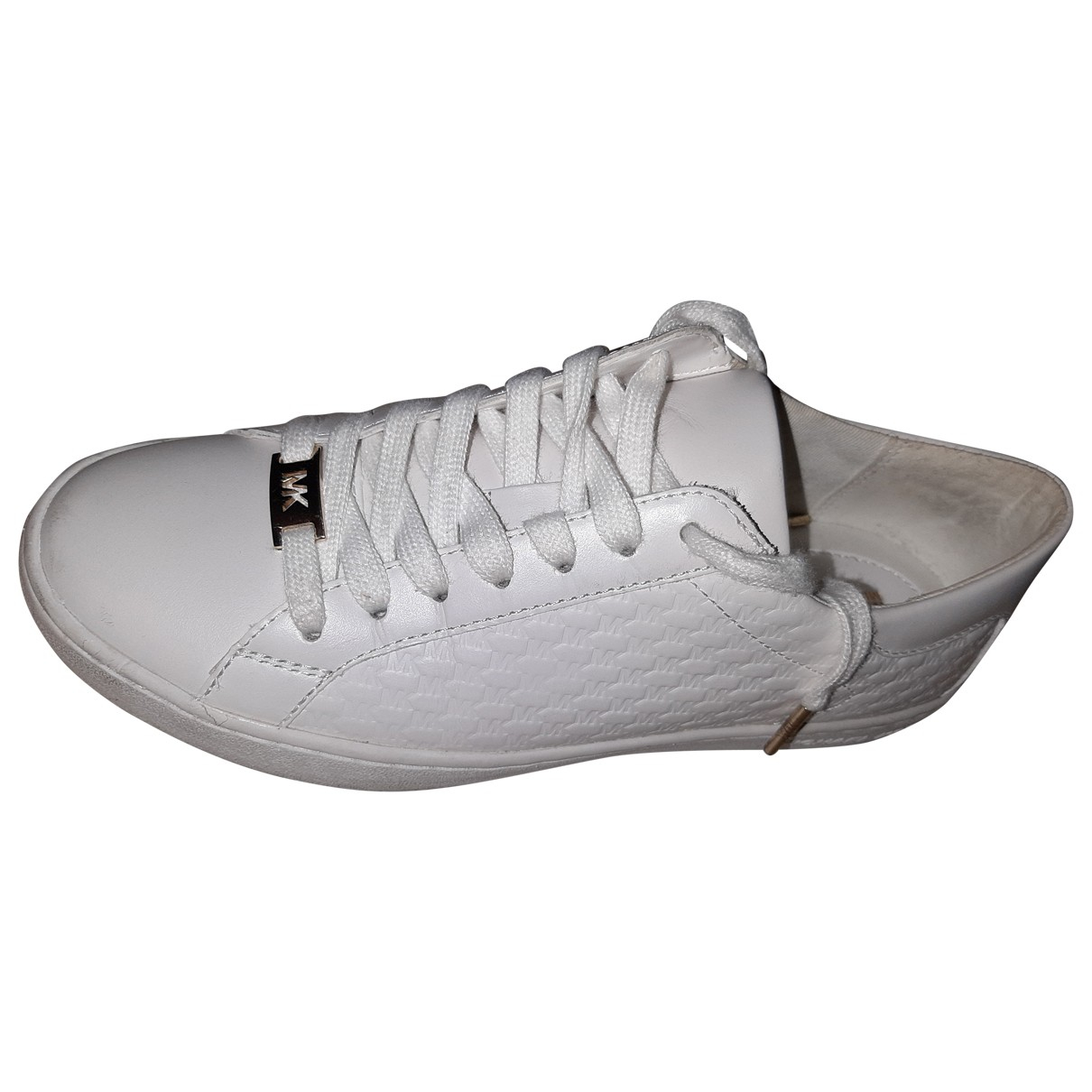 Michael Kors N White Leather Trainers for Women 37.5 EU