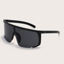 Herren Flat Top Shield Sonnenbrille