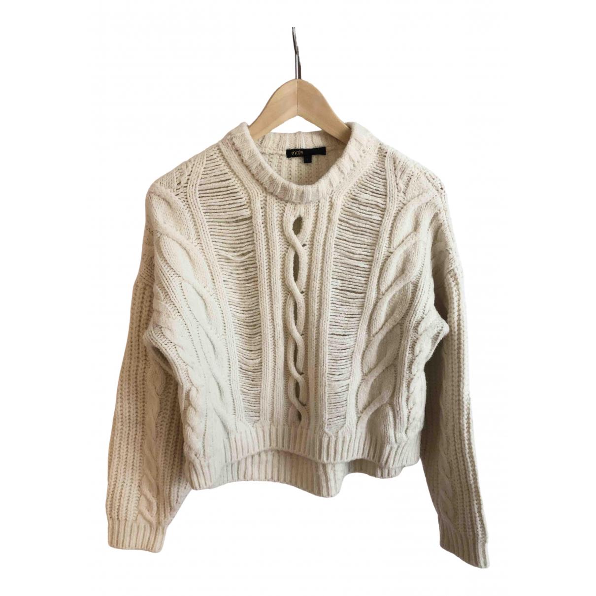Maje Fall Winter 2019 Pullover in  Ecru Wolle
