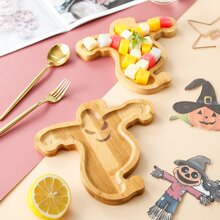 1pc Halloween Wooden Dessert Tray