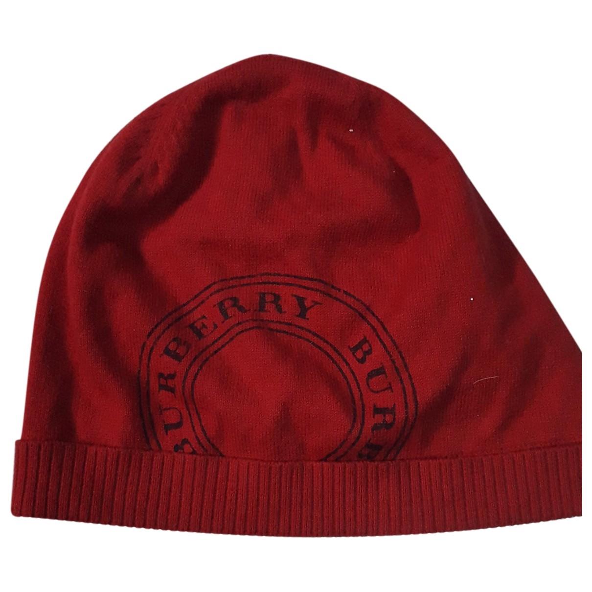 Burberry - Chapeau & Bonnets   pour homme en coton - rouge
