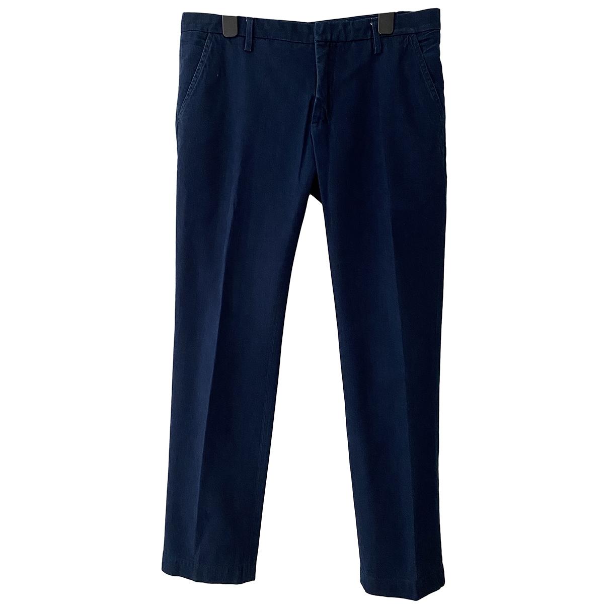 Dondup \N Blue Cotton Trousers for Men 48 IT