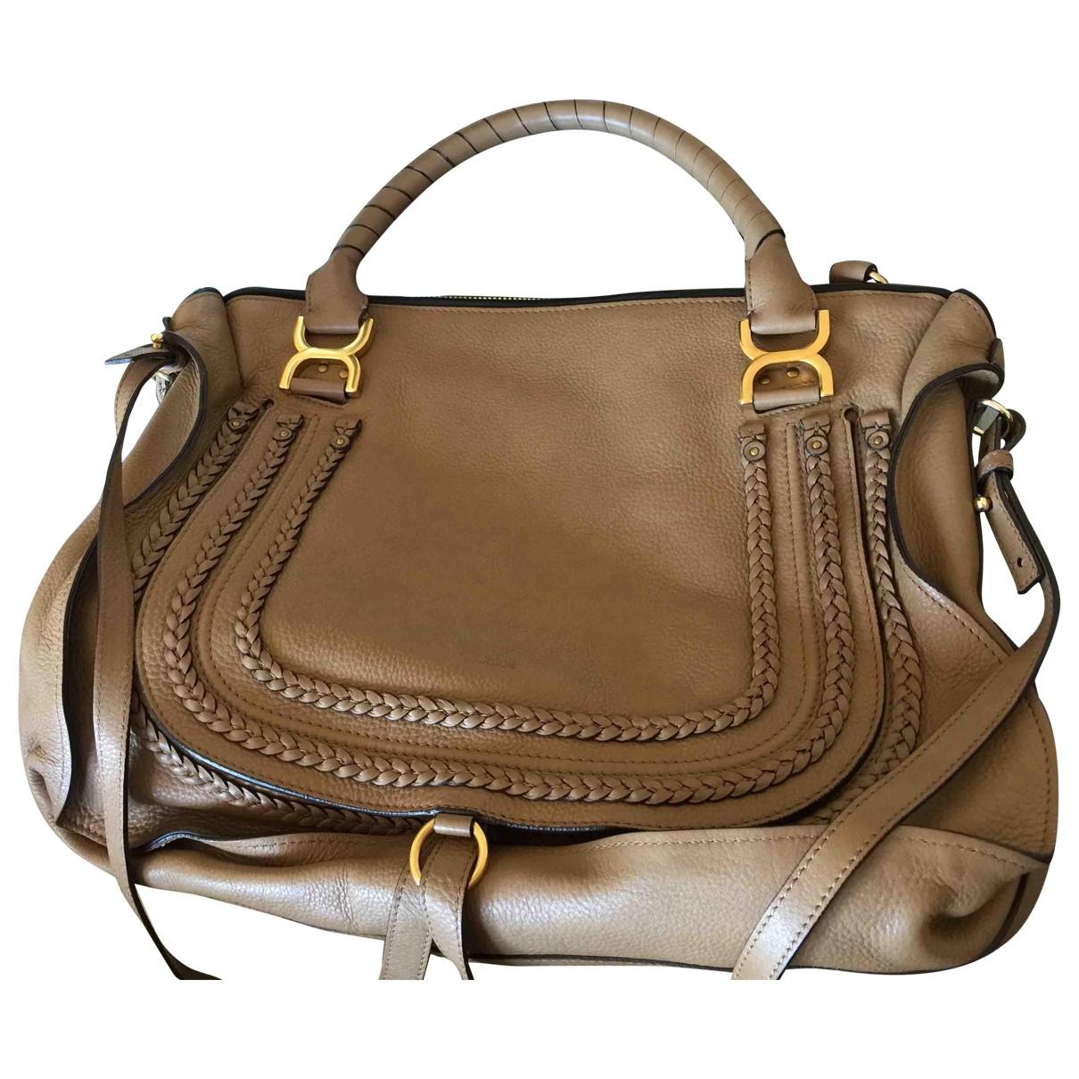 Chloé Marcie Camel Leather handbag for Women \N