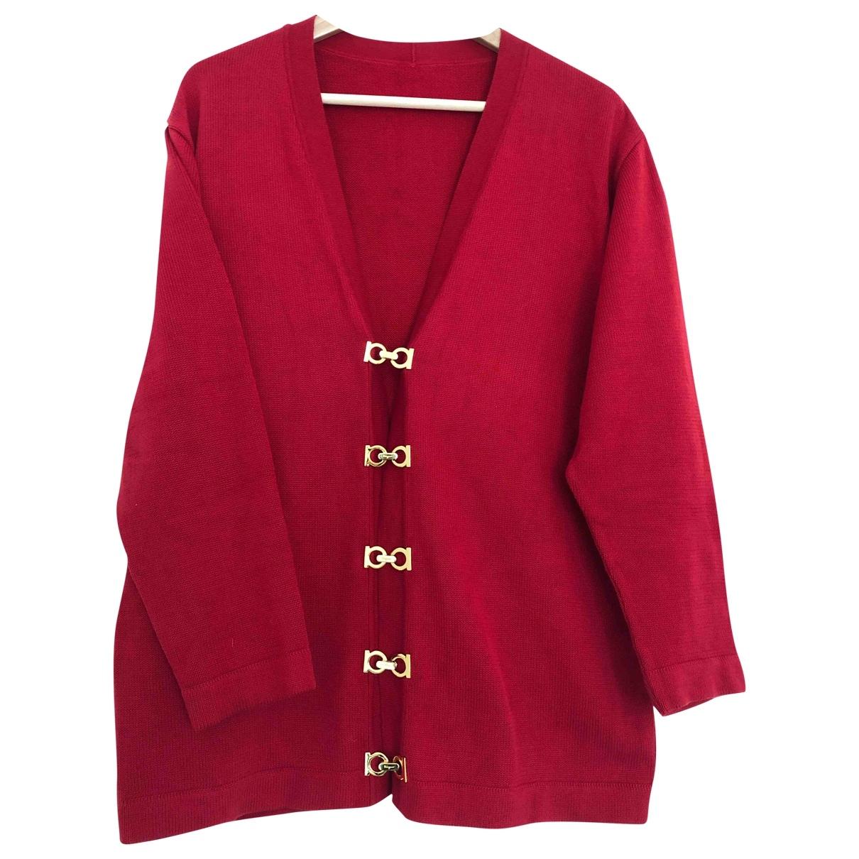 Salvatore Ferragamo - Pull   pour femme en coton - rouge