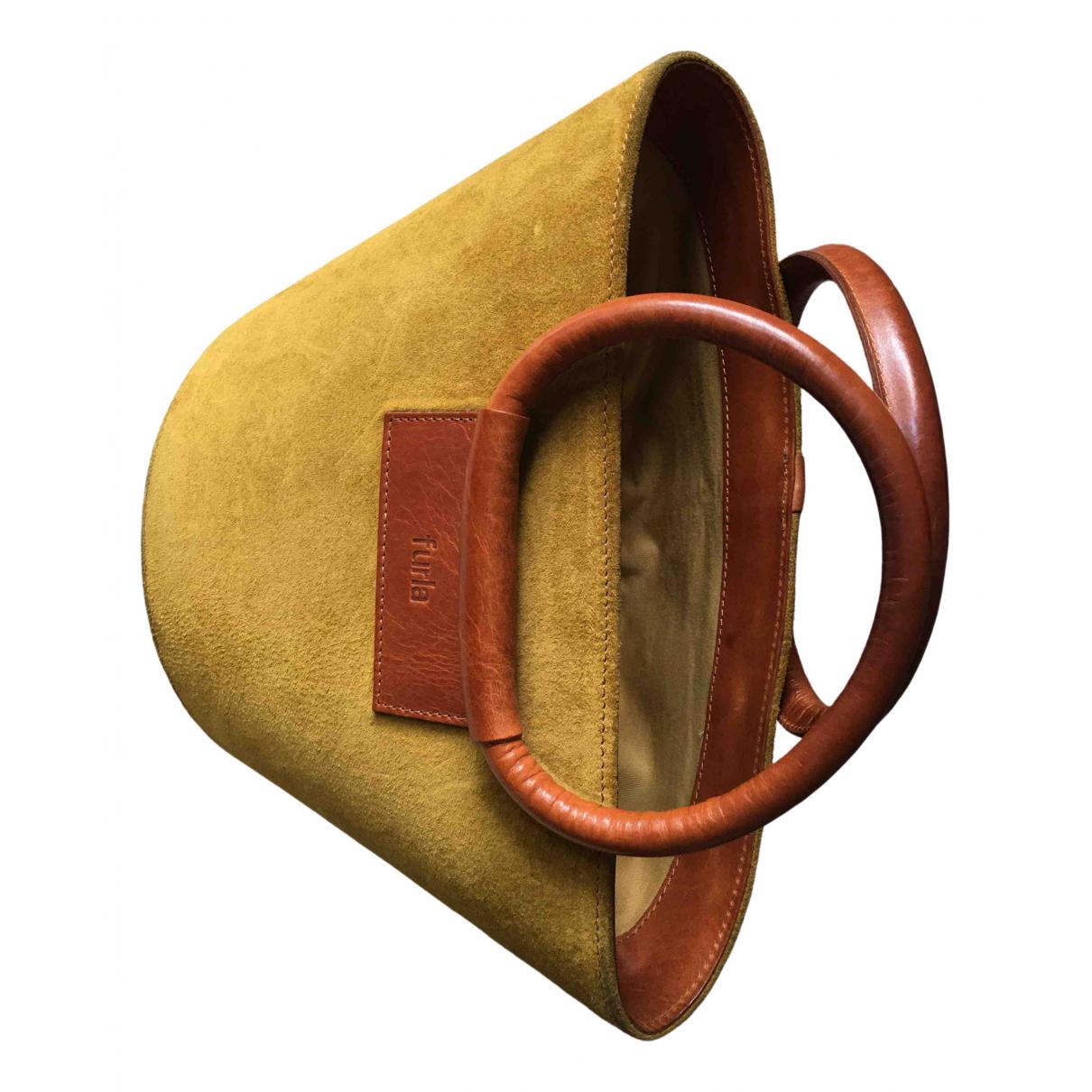 Furla \N Handtasche in  Bunt Veloursleder