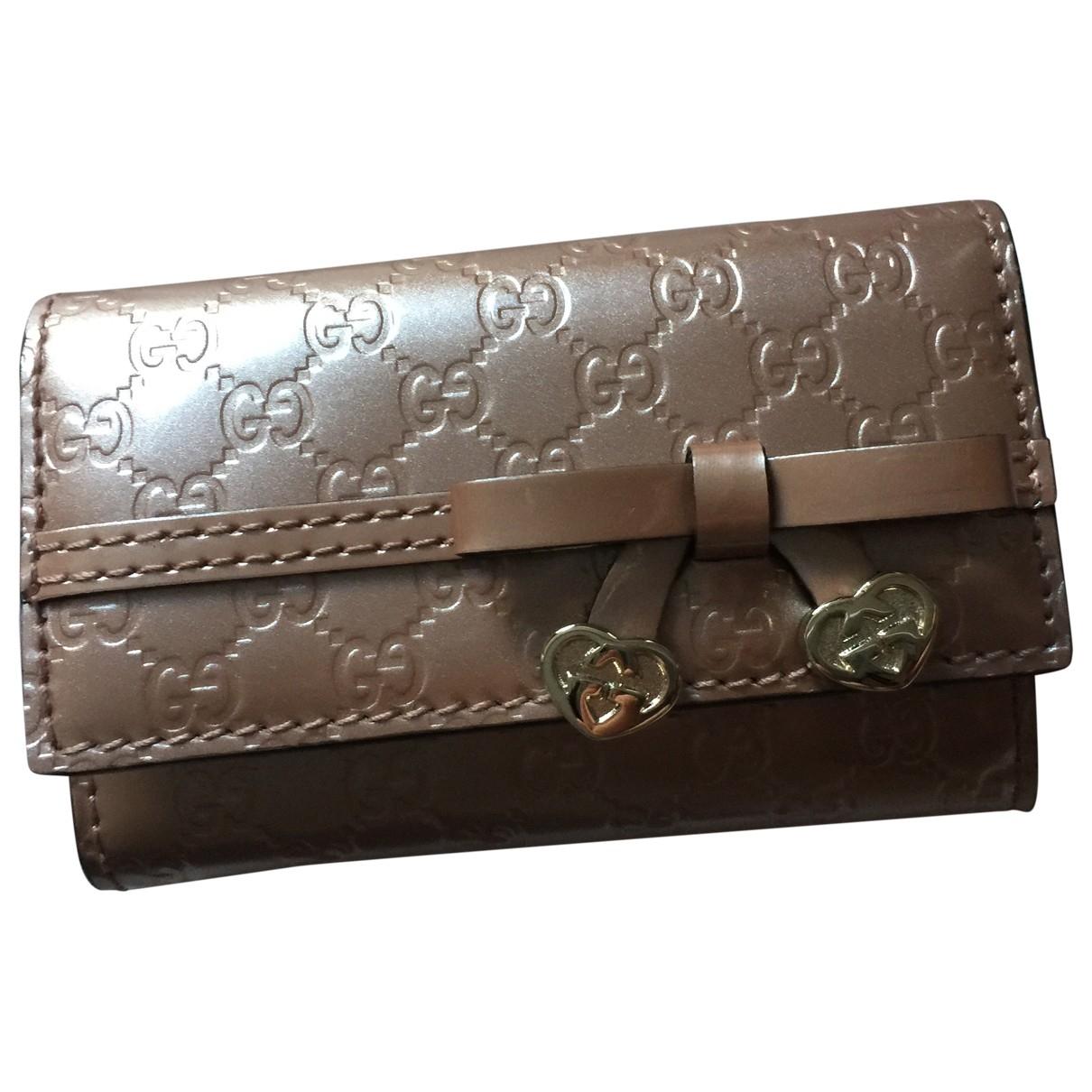Gucci - Petite maroquinerie   pour femme en cuir - marron