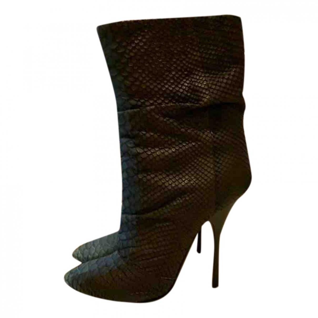 Giuseppe Zanotti \N Crocodile Boots for Women 38 EU