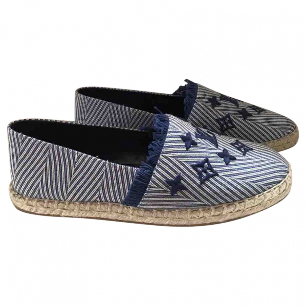 Louis Vuitton Seashore Espadrilles in  Blau Leinen