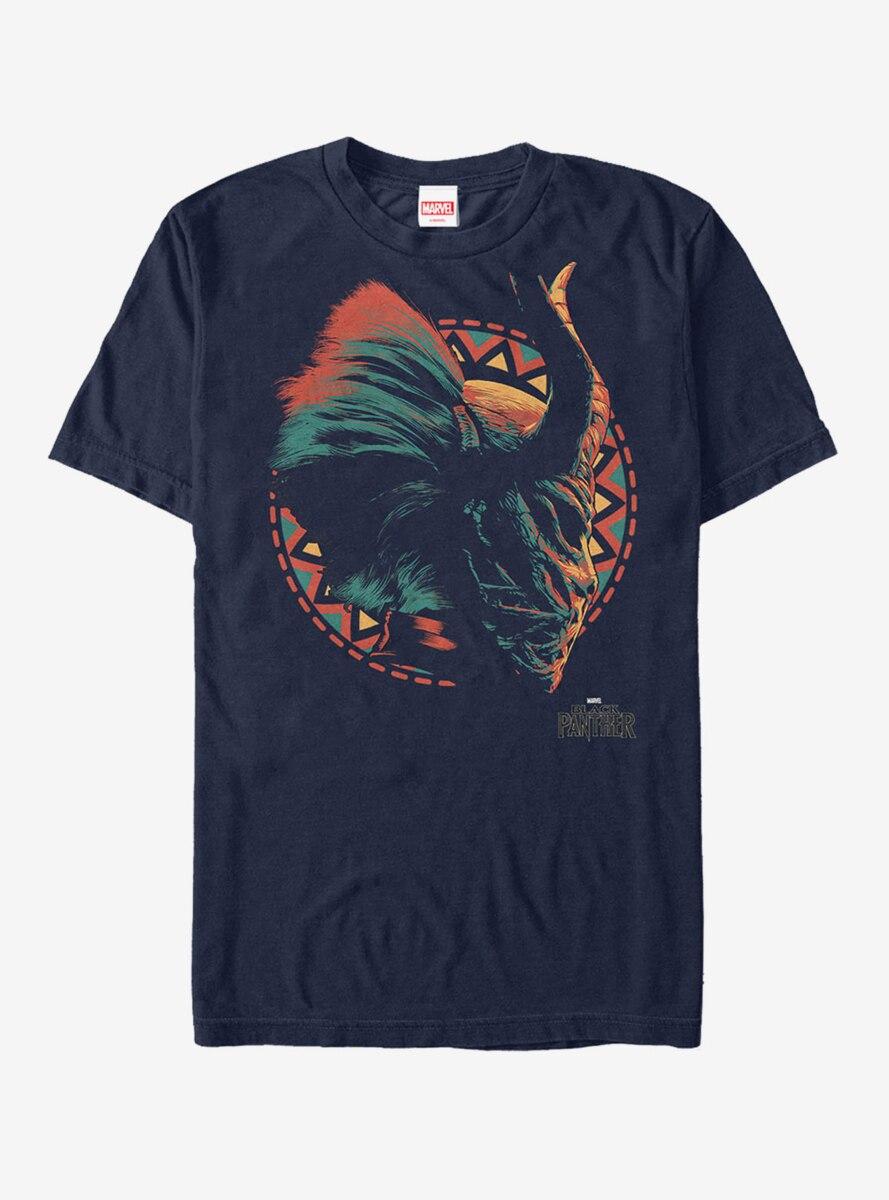 Marvel Black Panther 2018 Killmonger's Mask T-Shirt