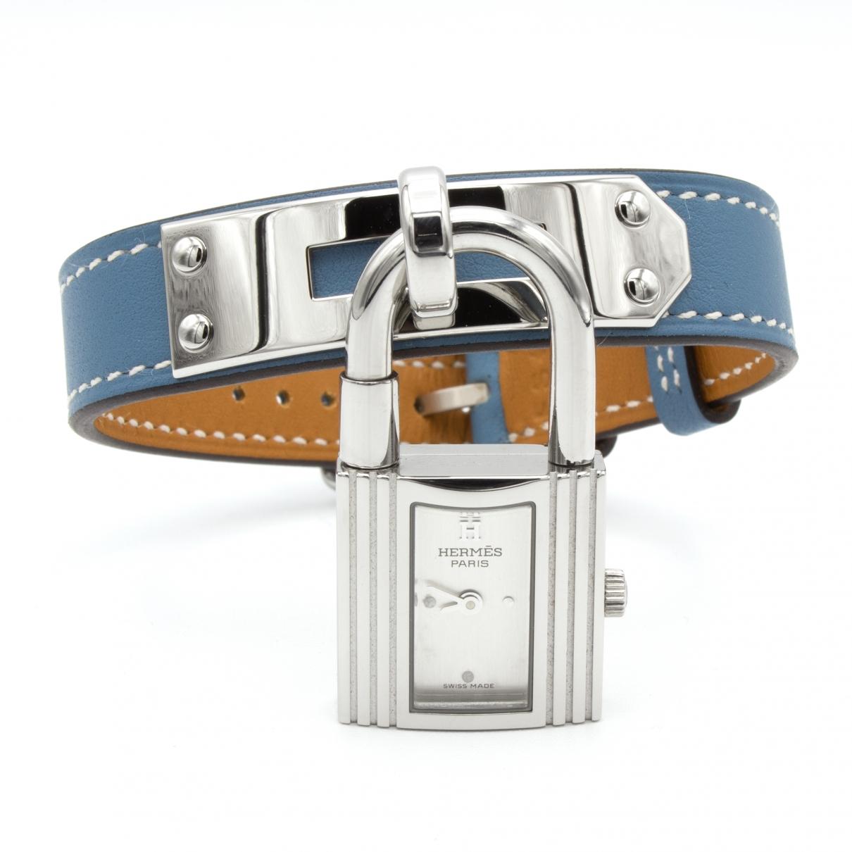 Hermes - Montre Kelly pour femme en acier - bleu