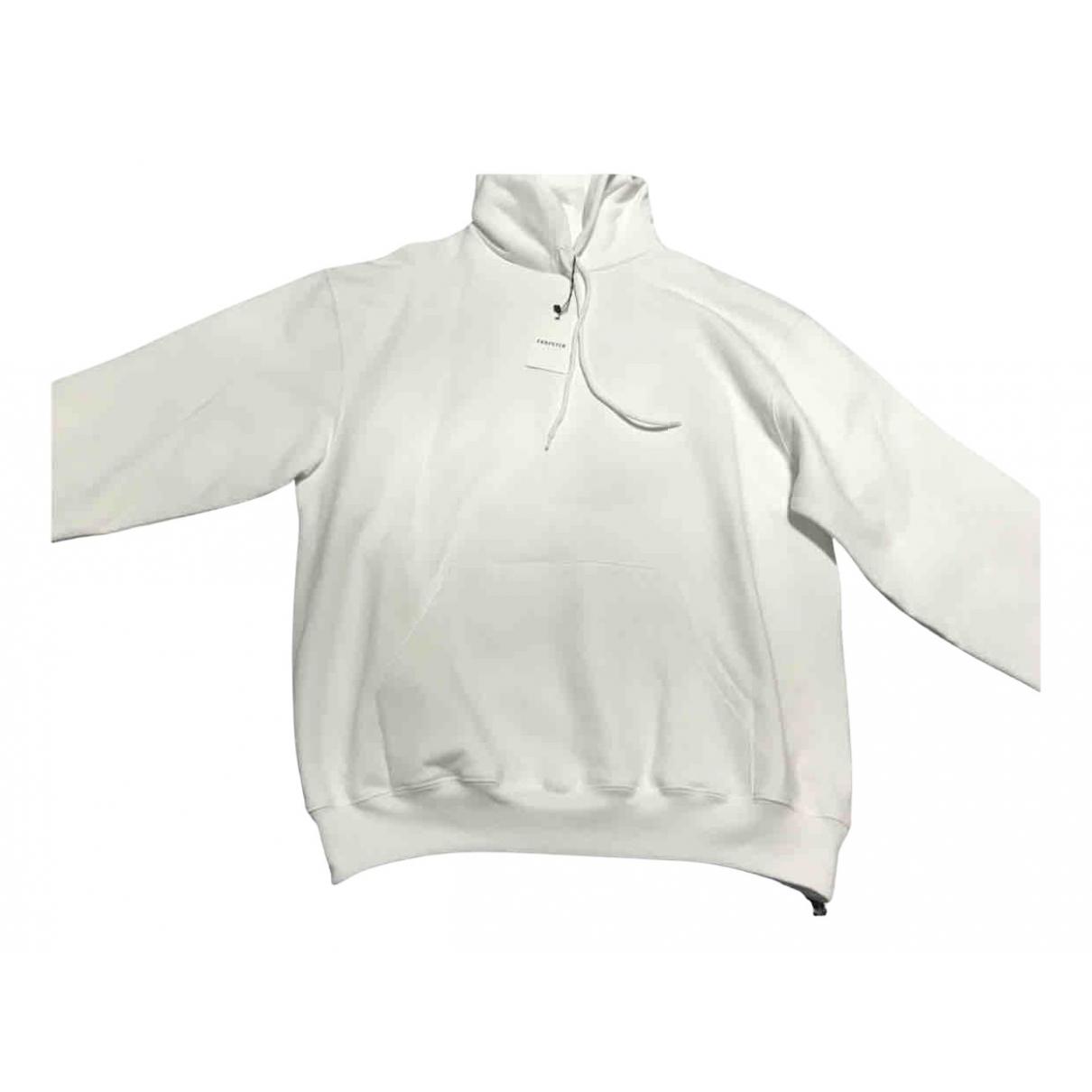 Balenciaga \N Pullover.Westen.Sweatshirts  in  Weiss Baumwolle