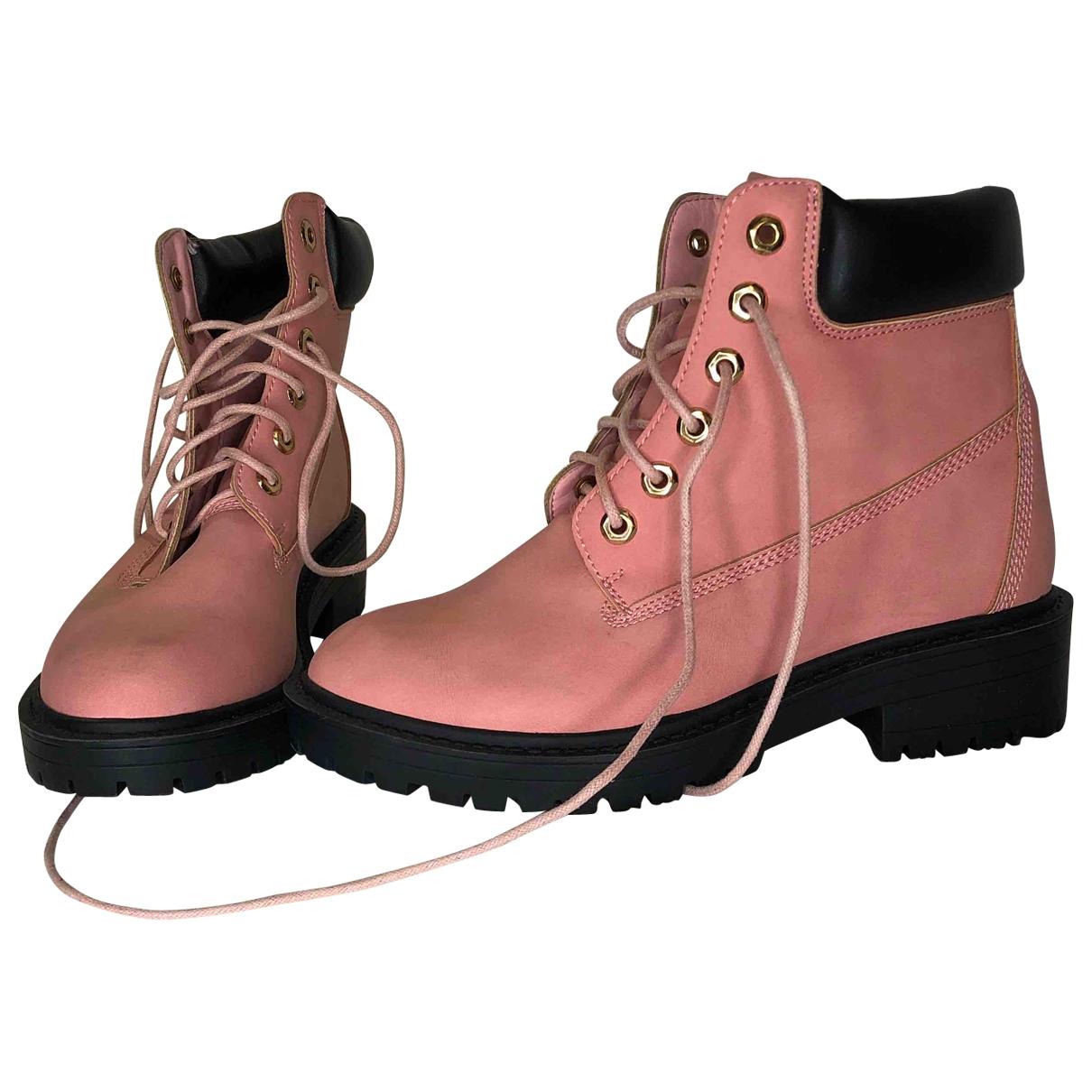 - Boots   pour femme - rose