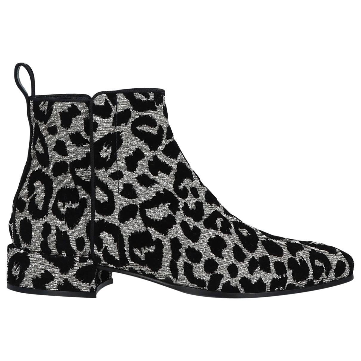Dolce & Gabbana - Boots   pour femme en velours - argente