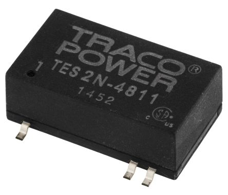 TRACOPOWER TES 2N 2W Isolated DC-DC Converter Surface Mount, Voltage in 36 → 72 V dc, Voltage out 5V dc