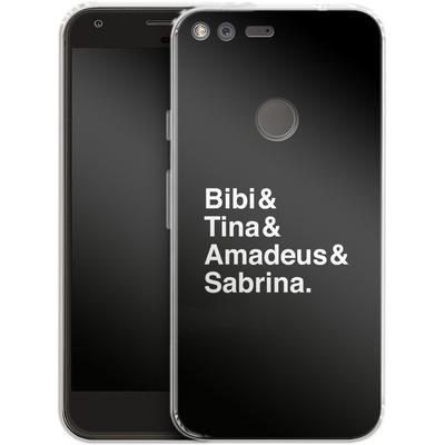 Google Pixel XL Silikon Handyhuelle - Bibi&Tina&Amadeus&Sabrina von Bibi & Tina