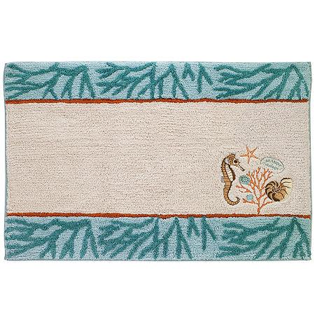 Avanti Seaside Vintage Bath Rug, One Size , Multiple Colors