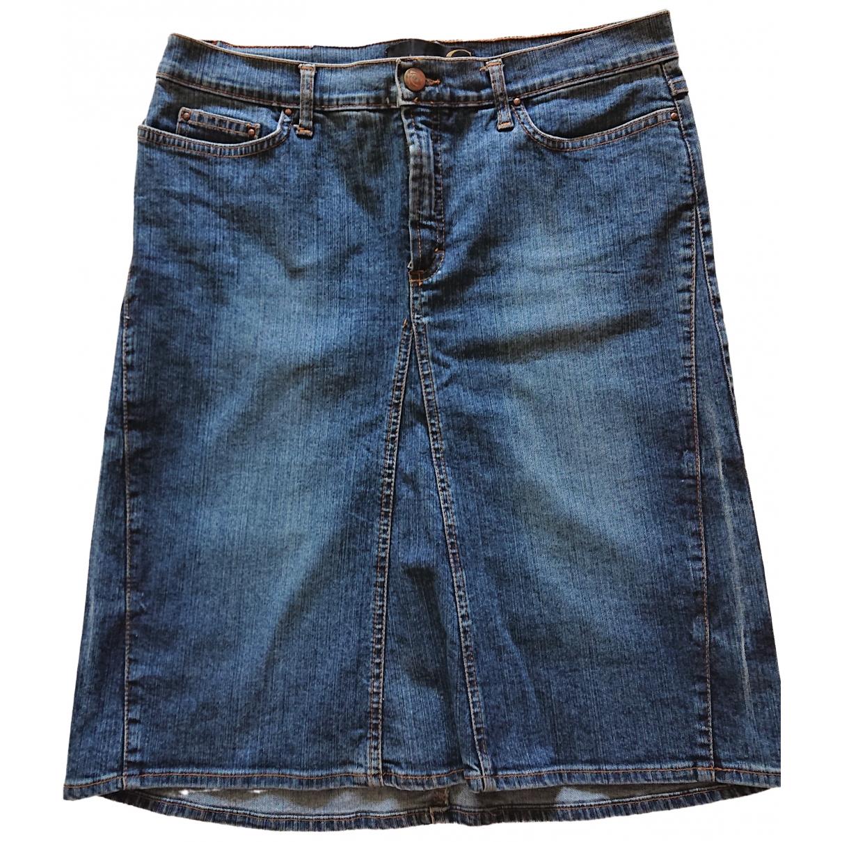 Just Cavalli \N Blue Denim - Jeans skirt for Women 44 IT